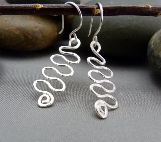 Handmade Swirl Earrings  Choice of Wire by GretchenHindDesigns, $28.00