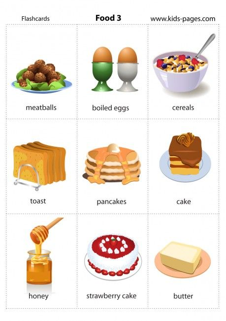 Kids Pages - Food 3: