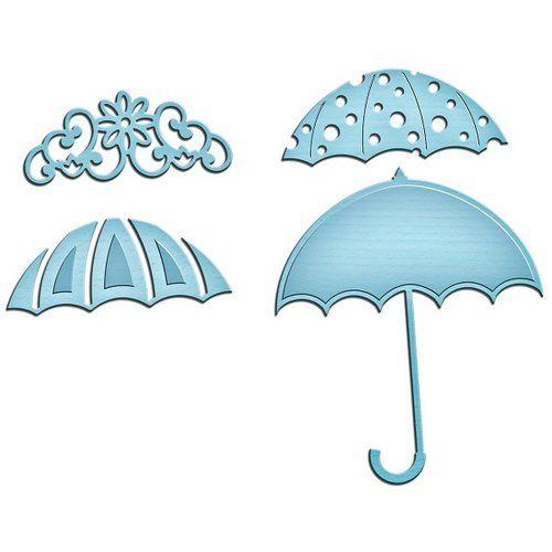 Spellbinders - Shapeabilities Collection - InSpire Die - Umbrella Trio