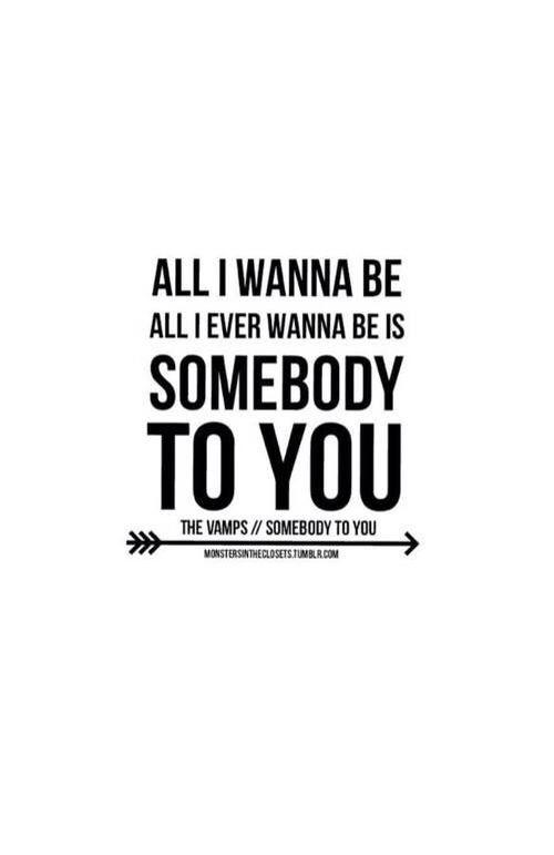The vamps somebody to you lyrics