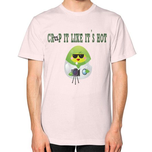Crop It Like It's Hot Unisex T-Shirt (on man)