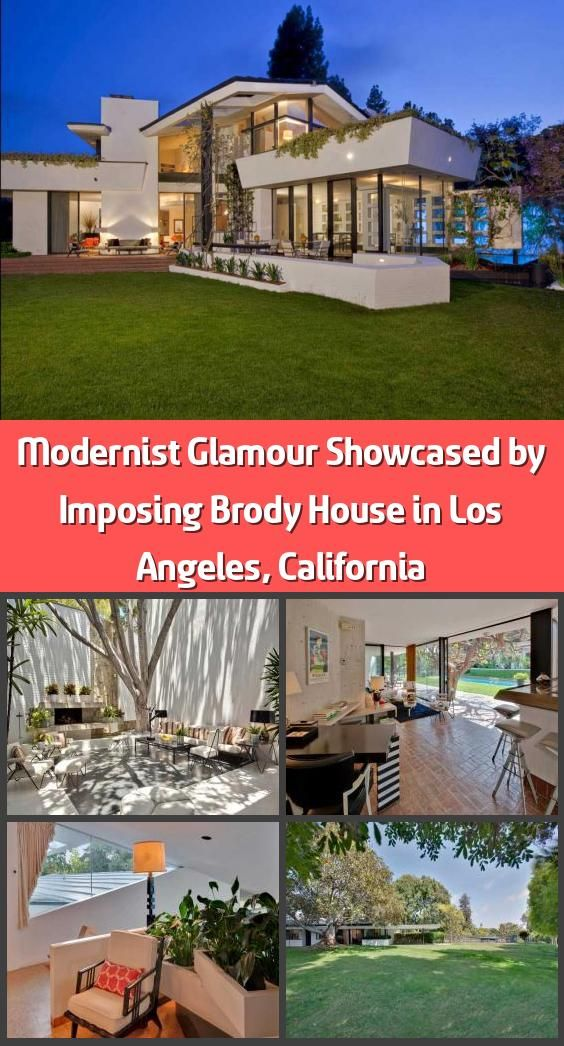 Modernist Glamour Showcased By Imposing Brody House In Los Angeles