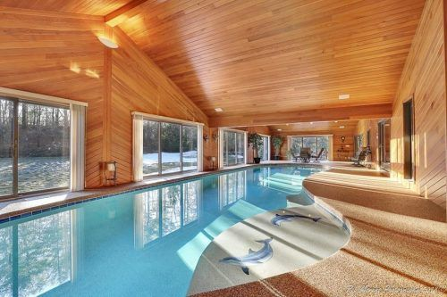 Remarkable Five Homes For Sale With Indoor Pools Indoor Pool House Pool House Designs Indoor Pool Design