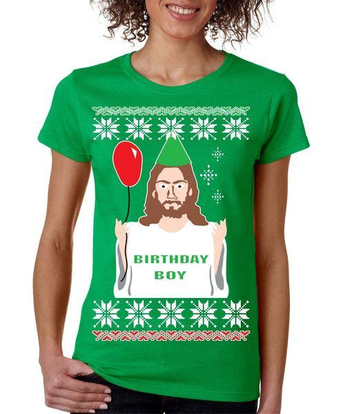 Ugly Christmas Sweater - Birthday Boy Jesus Son of God himself ...