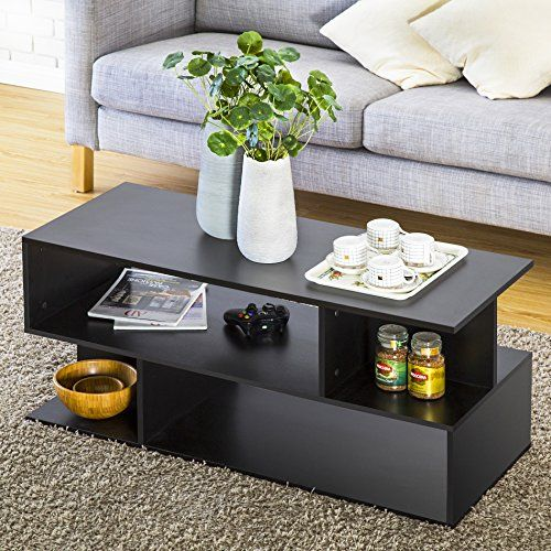 Homury Wood Coffee Table Media Tv Stand Storage Console Cabinet Bookcase Display Tv Stand With Storage Tv Stand Coffee Table Set Tv Stand Coffee Table