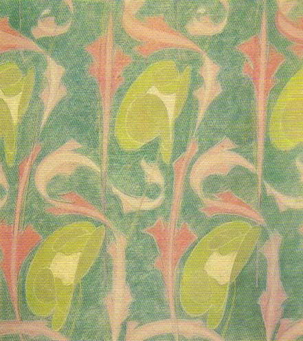 Textile design by Archibald Knox, produced in 1900.