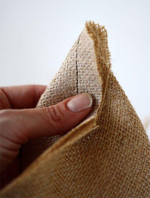 how to make burlap bags