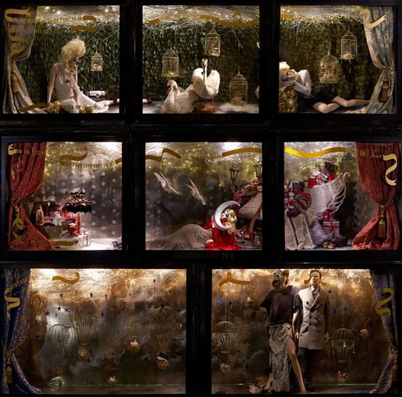 Liberty's Christmas windows, a decadent and glittering display inspired by the 12 days of Christmas