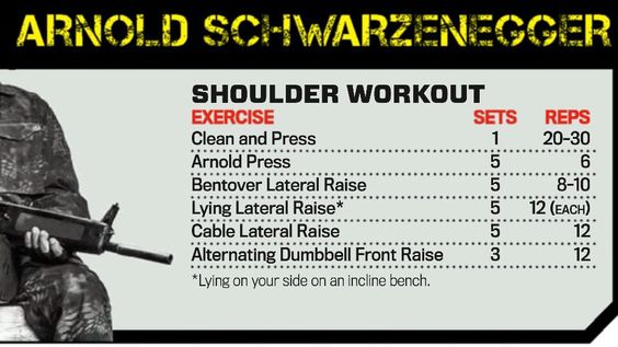 Shoulder Workout by Arnold Schwarzenegger - The Expendables