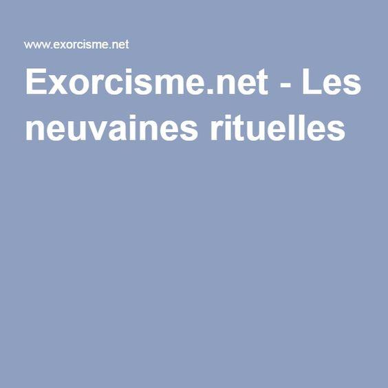 Exorcisme.net - Les neuvaines rituelles