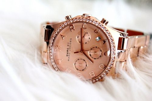 Luxury Living   The High Life   Arm Party   Watches   Marc Jacobs Watch   Rose Gold