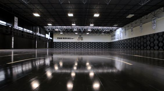 perfect floor for #floorball nike + hotel: the regal basketball court, london