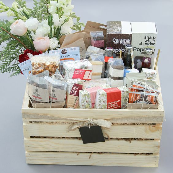 Perfect for office gifts or events! This large crate comes with a variety of our indie, gourmet treats and drinks. (Please note: snacks will vary. We can customize the crate if needed, email us for in