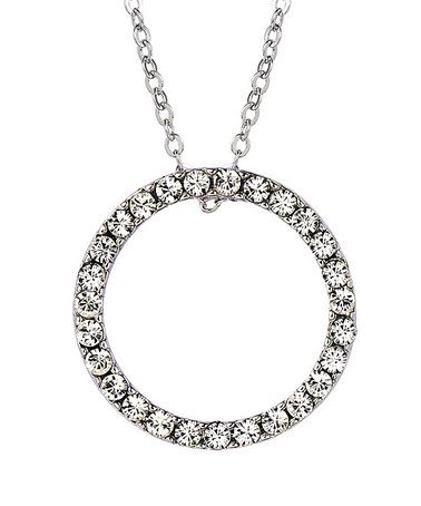 Take a look at this Crystal SWAROVSKI ELEMENTS & Silver Divinity Necklace by MESTIGE on #zulily today!