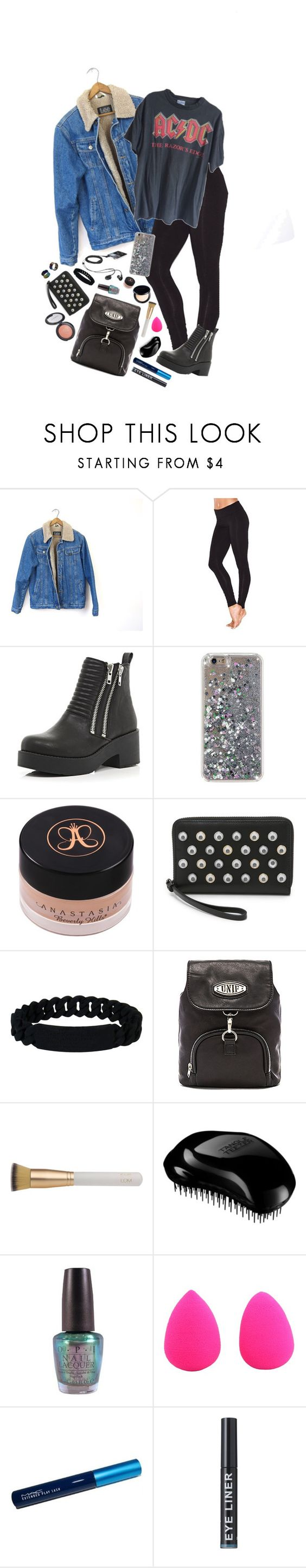 """""""Untitled #1060"""" by giriboy97 ❤ liked on Polyvore featuring Victoria's Secret, River Island, Marc by Marc Jacobs, UNIF, Eve Lom, Tangle Teezer, OPI and beautyblender"""