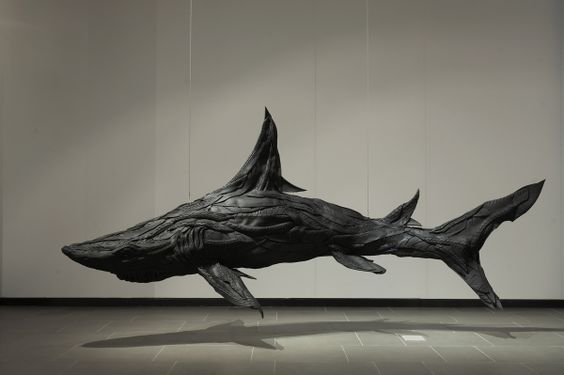 Mutant Animal Sculptures Made From Old Tires. 51 sculptures from Korean artist Yong Ho Ji.