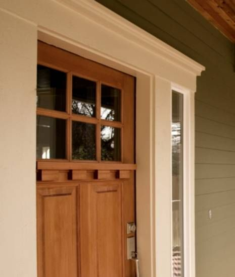 Colonial Home Exterior Trim Design Ideas: Craftsman Exterior Door Trim