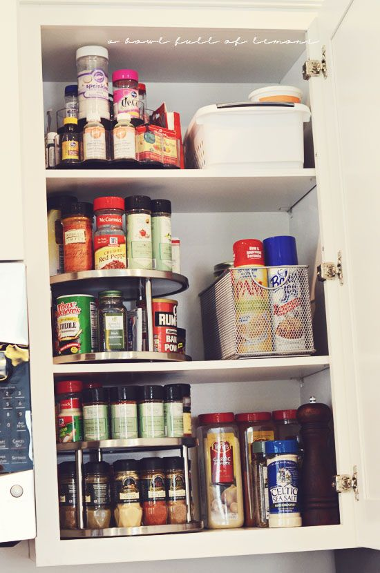Pinterest the world s catalog of ideas - How to organize a lazy susan cabinet ...