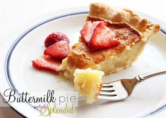 Buttermilk Pie | Positively Splendid {Crafts, Sewing, Recipes and Home Decor}