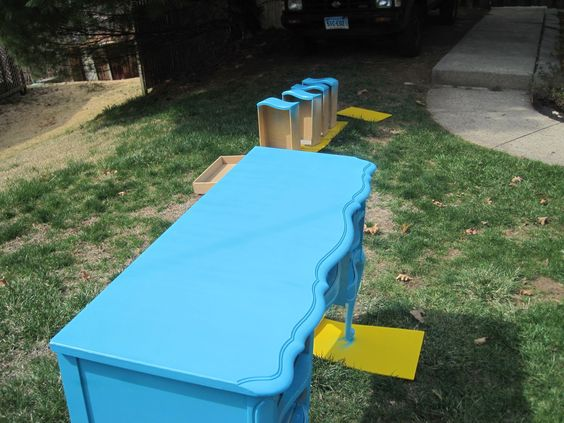 How to properly spray paint furniture. sanding, tack cloth, priming, coats, sealants. you can't just spray the color on lol