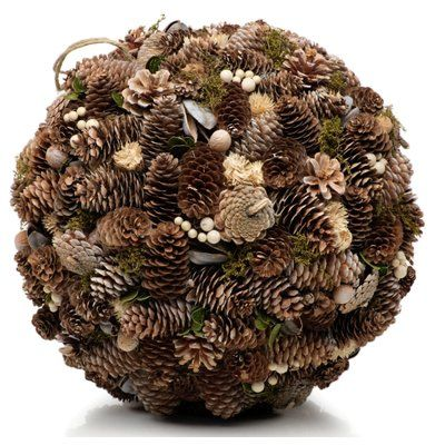 Gracie Oaks Assorted Pinecone Decorative Hanging Ball Ornament Size: