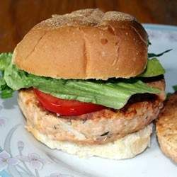 These savory salmon burgers hold up well on the grill, especially if you use a nice fillet of wild king salmon. serve on an onion roll with lettuce, tomato, mustard, and horseradish for a great barbeque main dish.