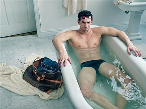 Racy photo may get Michael Phelps in hot water (Photo: Louis Vuitton)