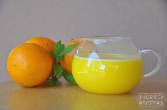 Salsa de naranja para postres, yogures, bizcochos... - http://www.thermorecetas.com/salsa-naranja-postres-yogures-bizcochos/