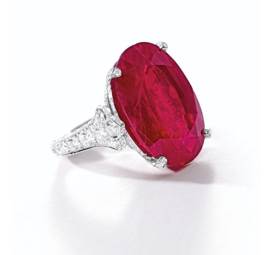 A 29.62-carat Mogok Burmese Ruby and Diamond Ring, mounted by Cartier, $7,379,953