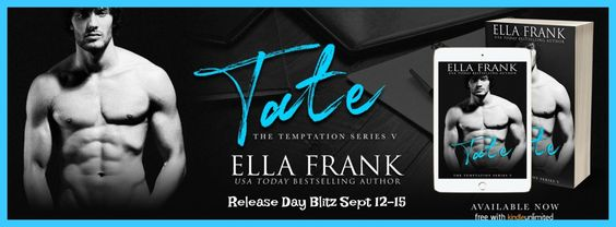~Release Blitz~Tate (Temptation #5) by Ella Frank~Characters Interview~