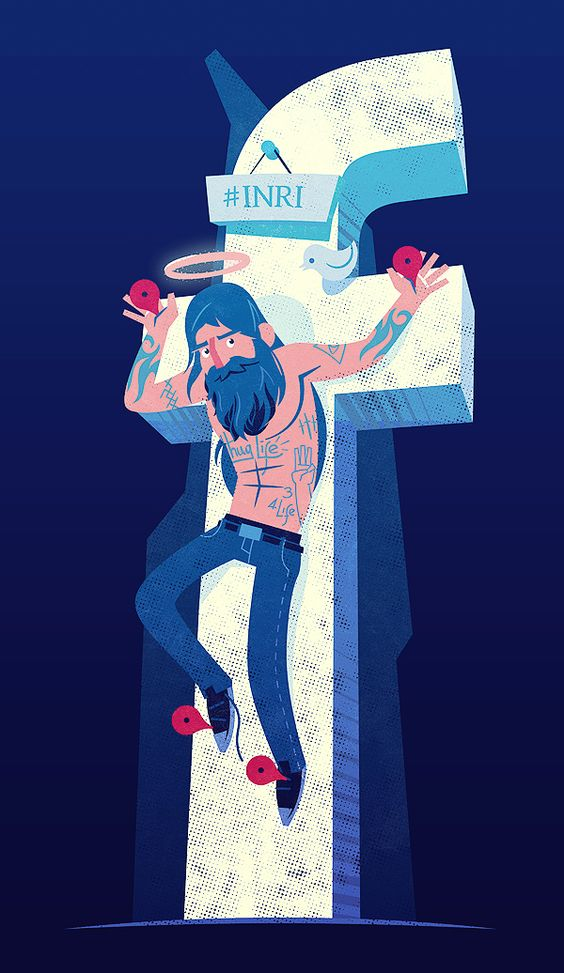 Modern Jesus by Diego Leal, via Behance