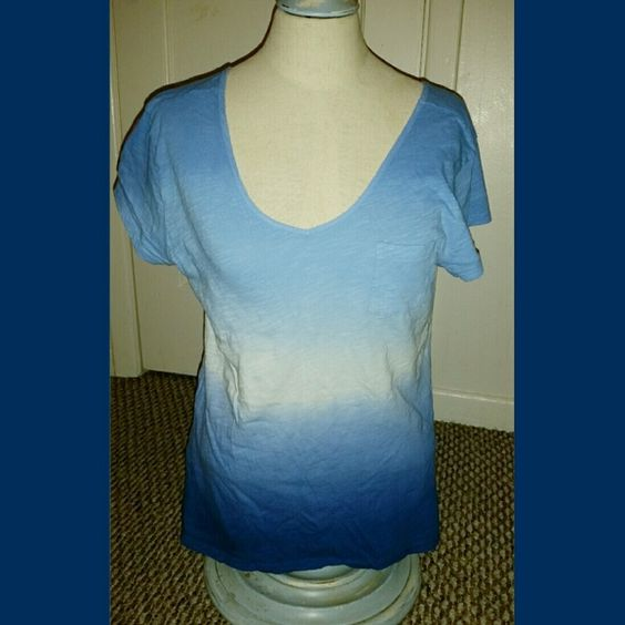 Gap Different shades of blue and white Gap top, with a small pocket GAP Tops Tees - Short Sleeve