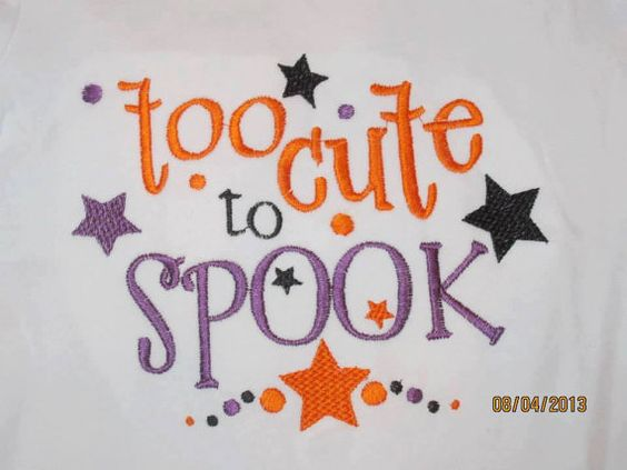 too cute to SPOOK Custom embroidered tshirt or one by lateedatees, $21.00