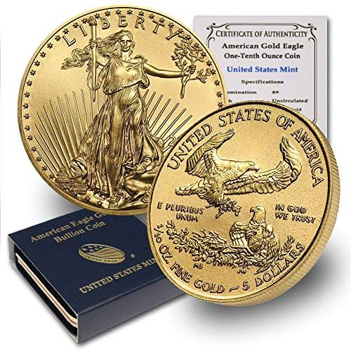 2020 1 10 Oz Gold American Eagle W Box Coa By Coinfolio 5 Brilliant Uncirculated Coin Finance Money In 2020 Gold American Eagle Gold Eagle Eagle Coin
