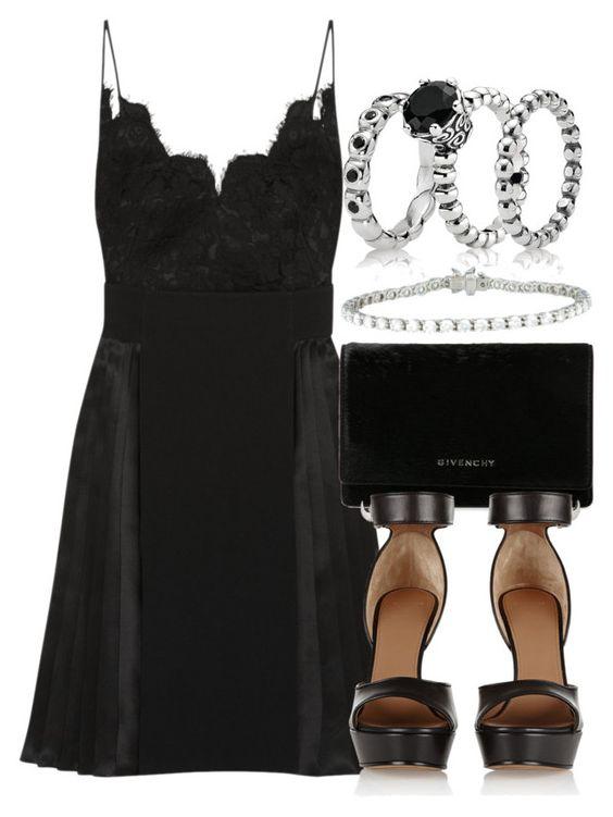 """""""Style #7104"""" by vany-alvarado ❤ liked on Polyvore featuring Givenchy, Pandora and Tiffany & Co."""