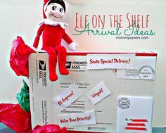 For those of you doing the Elf on the Shelf tradition, how will it show up again?  Here are some Ideas for its arrival