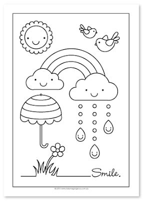 Style Me Gorgeous: smiles & rainbows...free color page