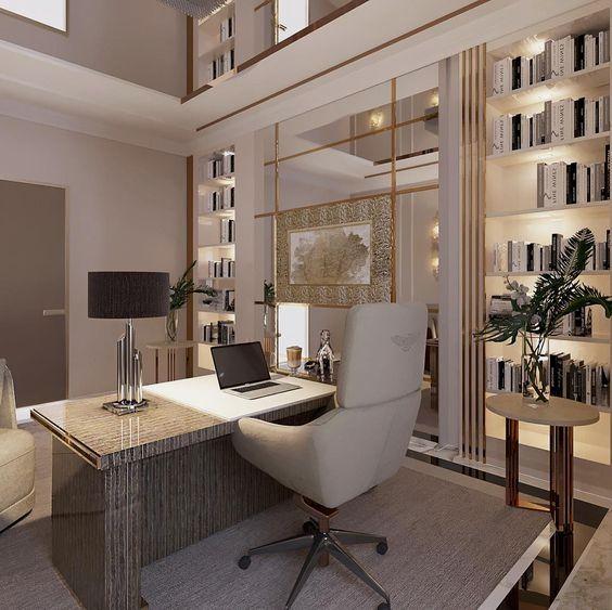 18 Ideas Of Freelancer Home Office Interiordesignshome Com Modern Home Office Modern Office Design Office Interior Design