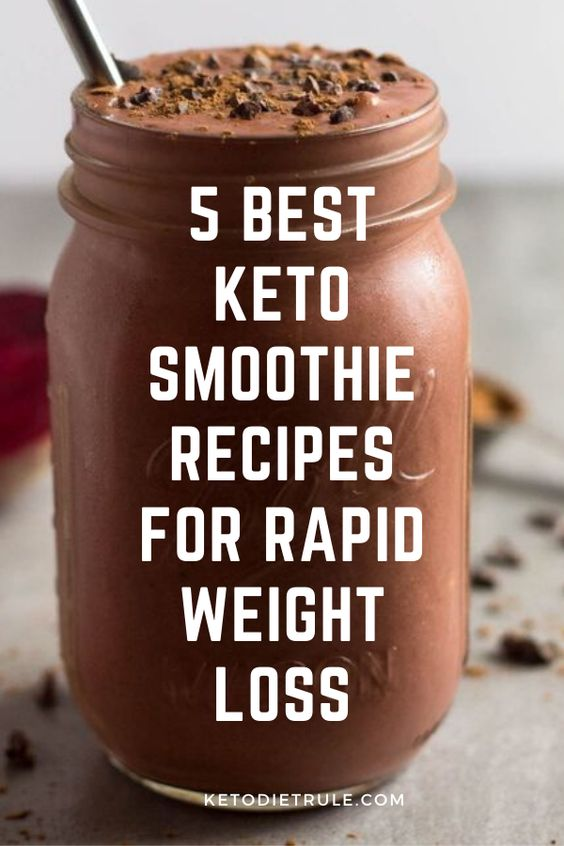 5 Best Keto Smoothies for Rapid Weight Loss