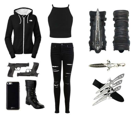 """""""modern assassins outfit"""" by savana1472 liked on Polyvore"""