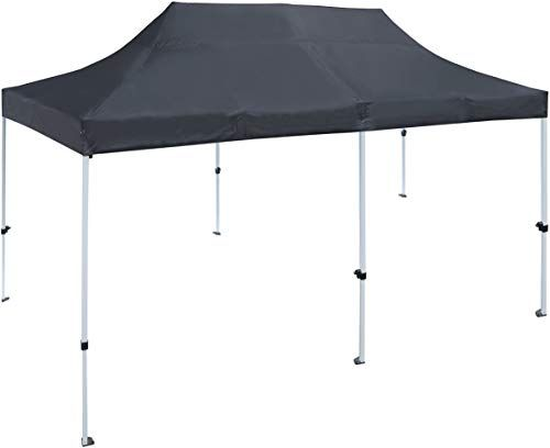 Great For Aleko Gzf10x20bk Foldable Pop Up Polyester Gazebo Canopy