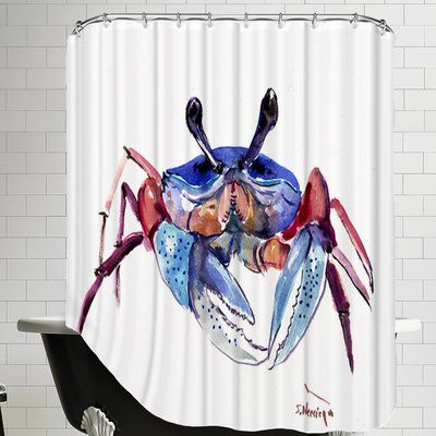 East Urban Home Crab Single Shower Curtain In 2020 Curtains