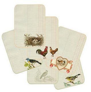 birds journaling cards