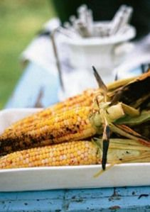 Grilled corn salad with avocado and lime