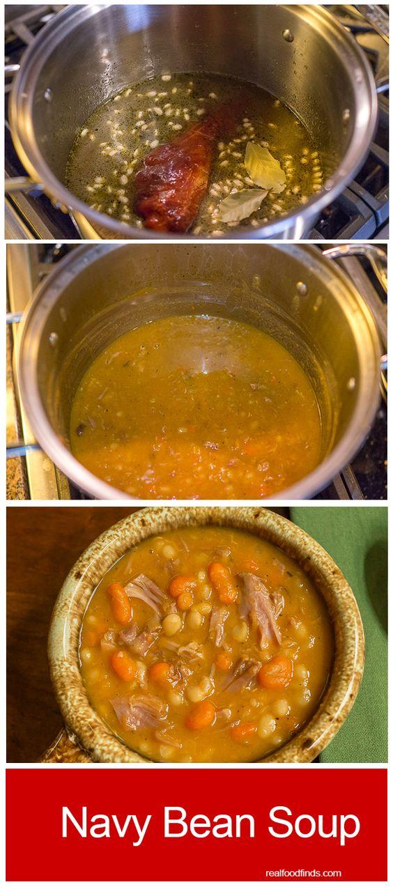 Navy Bean Soup | Recipe | Navy Bean Soup, Navy Bean and Beans