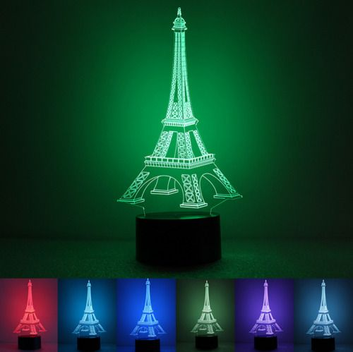 Find Many Great New Used Options And Get The Best Deals For Paris Eiffel Tower Led Neon Sign Projector Illusion Night La Eiffel Tower Light Table Night Lamps