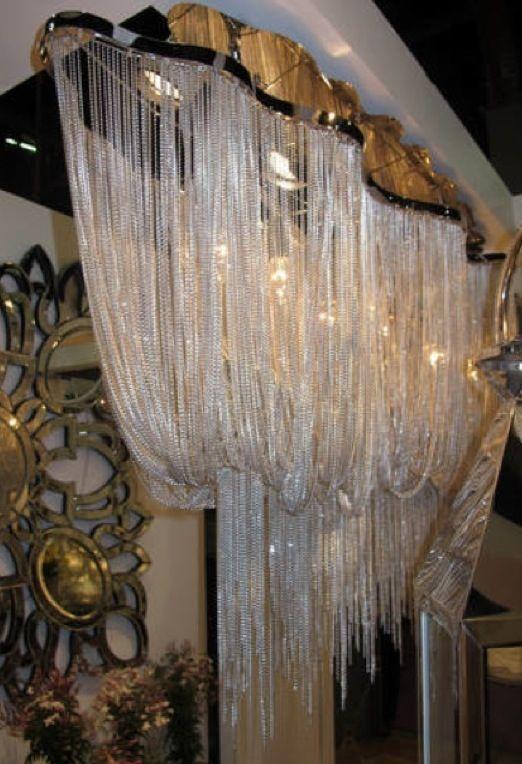 Glass Chandelier Beads: draped glass beads chandelier,Lighting