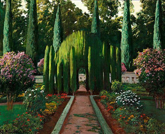 Santiago Rusiñol La Glorieta de los Cipreses, del Jardín del Príncipe