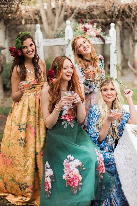 floral maxi dresses and flower crowns are right what you need