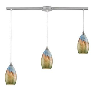 View the Elk Lighting 10077/3L Three Light Down Lighting Island / Billiard Fixture from the Geologic Collection at Build.com.
